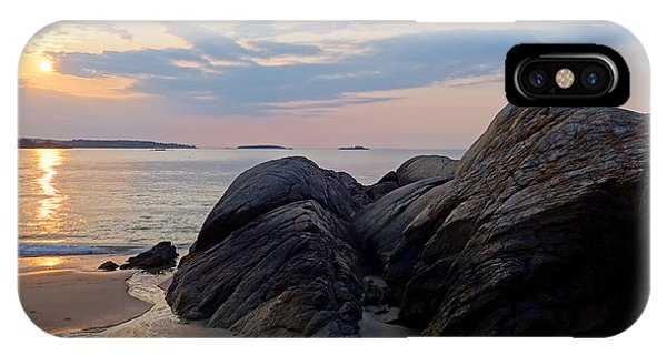 Singing Beach Rocky Sunrise Manchester By The Sea Ma IPhone Case
