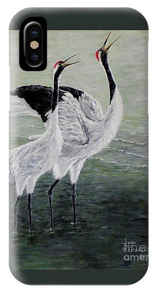 Singing Cranes IPhone Case