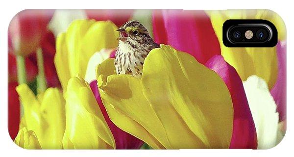 Singing In Tulips IPhone Case