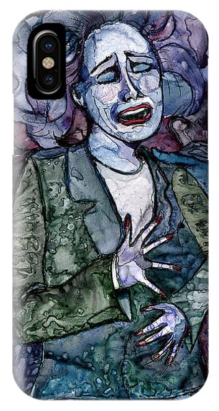 Singing Lady-blues IPhone Case