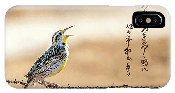 Singing Meadowlark IPhone Case