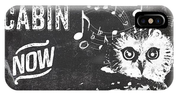 Cabin iPhone Case - Singing Owl Cabin Rustic Sign by Mindy Sommers