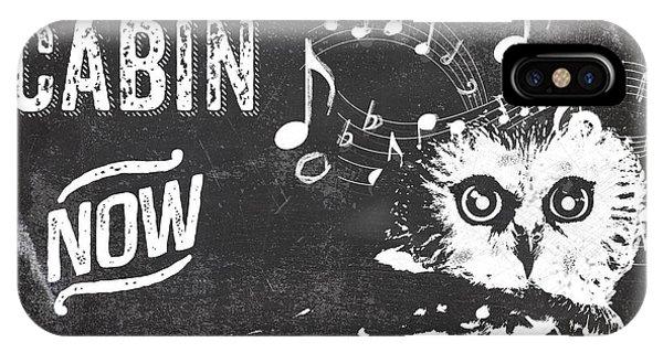 Singing Owl Cabin Rustic Sign IPhone Case