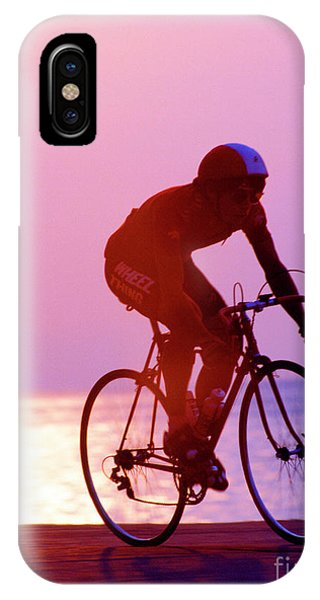 Single Bike Rider Chicago Lake Front IPhone Case