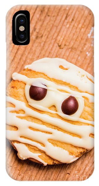 Icing iPhone Case - Single Homemade Mummy Cookie For Halloween by Jorgo Photography - Wall Art Gallery