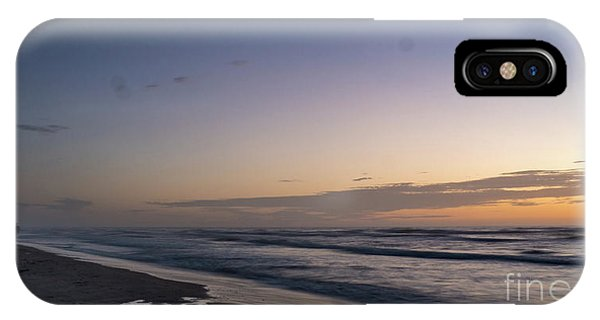 Single Man Walking On Beach With Sunset In The Background IPhone Case
