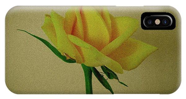 Single Yellow Rose IPhone Case
