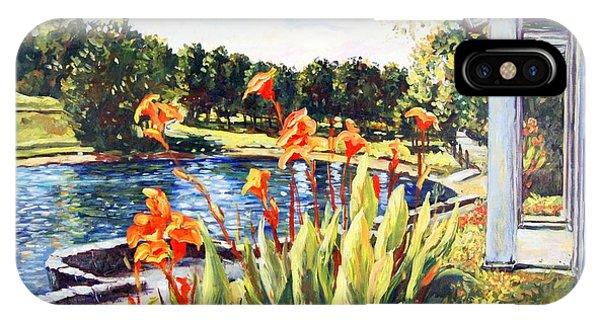 Rockford iPhone Case - Sinnissippi Gardens Lagoon by Ingrid Dohm