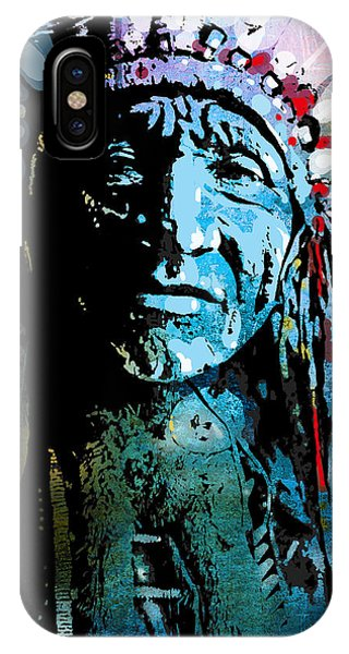 Native iPhone Case - Sioux Chief by Paul Sachtleben