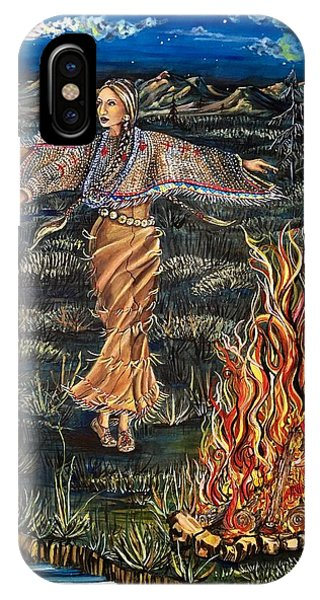 Sioux Woman Dancing IPhone Case
