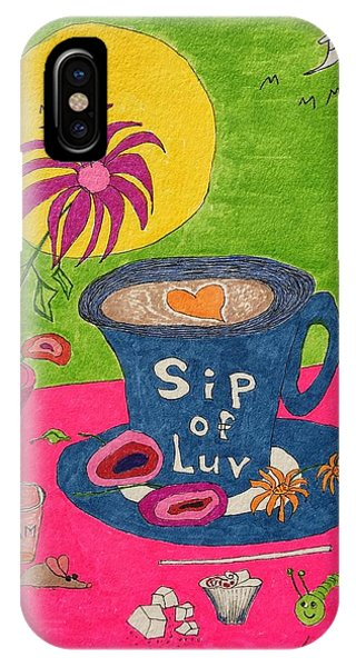 Sip Of Luv IPhone Case