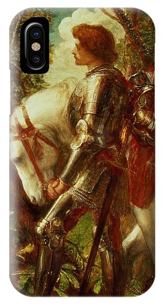 Knight iPhone Case - Sir Galahad by George Frederic Watts