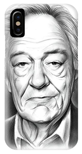 Irish iPhone Case - Sir Michael Gambon by Greg Joens