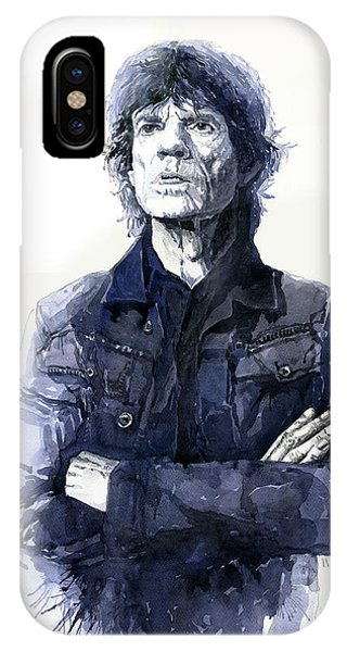 Portret iPhone Case - Sir Mick Jagger by Yuriy Shevchuk