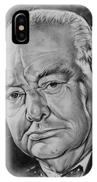 Prime Minister iPhone Case - Sir Winston Churchill by Greg Joens