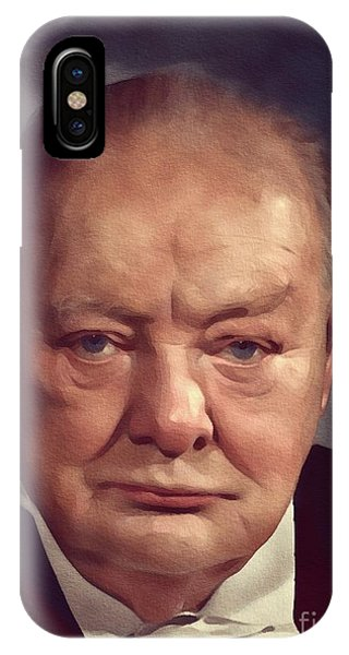 Prime Minister iPhone Case - Sir Winston Churchill, Prime Minister Of Great Britain by Mary Bassett