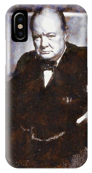 Prime Minister iPhone Case - Sir Winston Churchill by Esoterica Art Agency