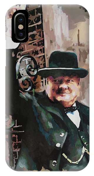 Prime Minister iPhone Case - Sir Winston Churchill Victory by Richard Day