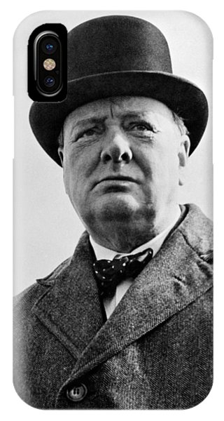 England iPhone Case - Sir Winston Churchill by War Is Hell Store