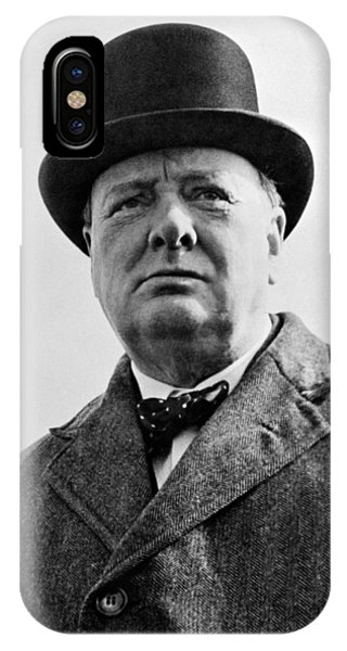 Prime Minister iPhone Case - Sir Winston Churchill by War Is Hell Store