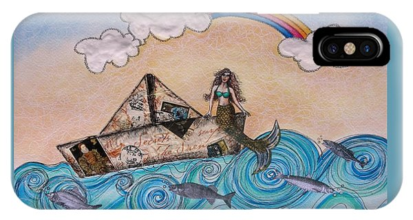 Siren On A Paper Boat IPhone Case