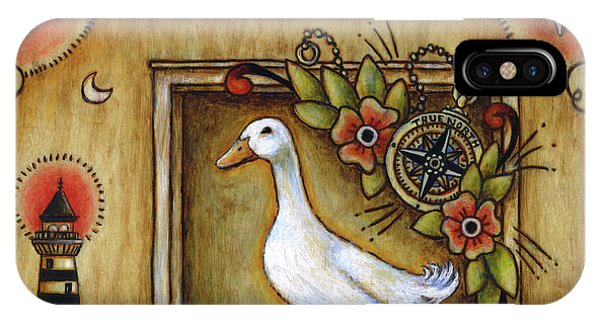 IPhone Case featuring the painting Siren Song Aka Ducking In For A Tattoo by Retta Stephenson