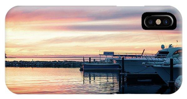 Sister Bay Marina At Sunset IPhone Case