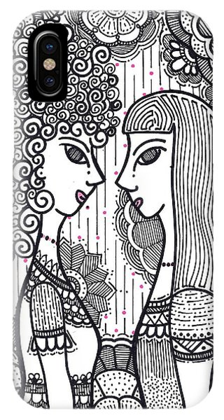 Sisters - Ink IPhone Case