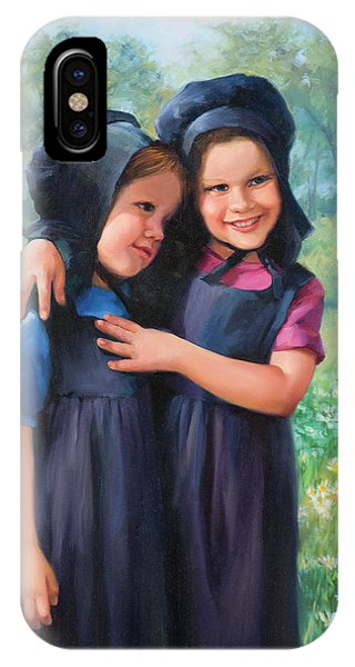 Amish iPhone Case - Sisters by Laurie Snow Hein