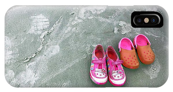Sisters Playing Barefoot In The Sand IPhone Case
