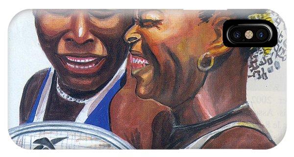 Venus Williams iPhone Case - Sisters Williams by Emmanuel Baliyanga