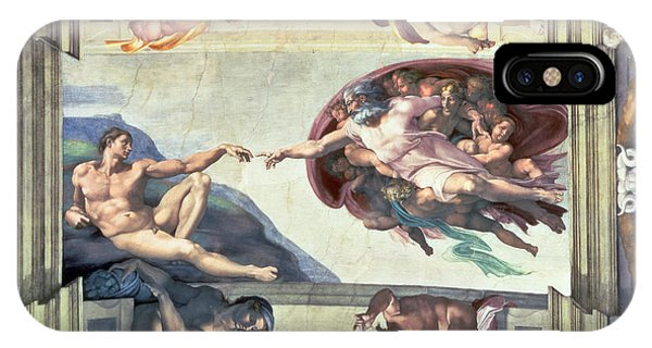 Sistine Chapel Ceiling Creation Of Adam IPhone Case