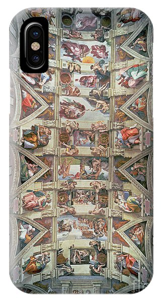 Chapel iPhone Case - Sistine Chapel Ceiling by Michelangelo