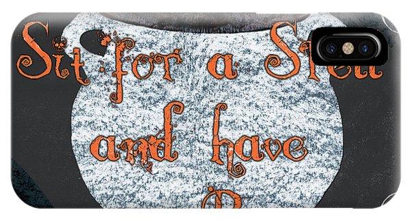 Bat iPhone Case - Sit For A Spell by Debbie DeWitt
