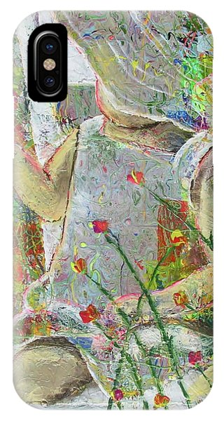IPhone Case featuring the painting Sitting A Spell... by Jacqueline Athmann