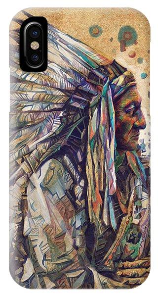 Sitting Bull Decorative Portrait 2 IPhone Case