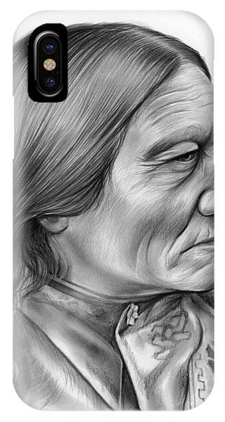 Bull iPhone Case - Sitting Bull by Greg Joens