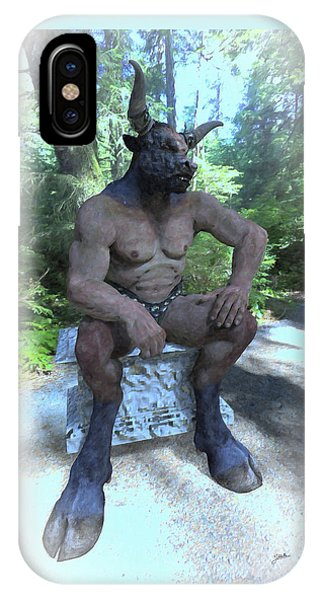 Minotaur iPhone Case - Sitting Bull by Joaquin Abella