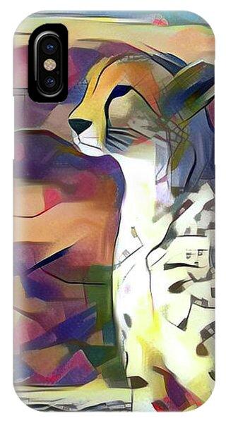 Sitting Cheetah  IPhone Case