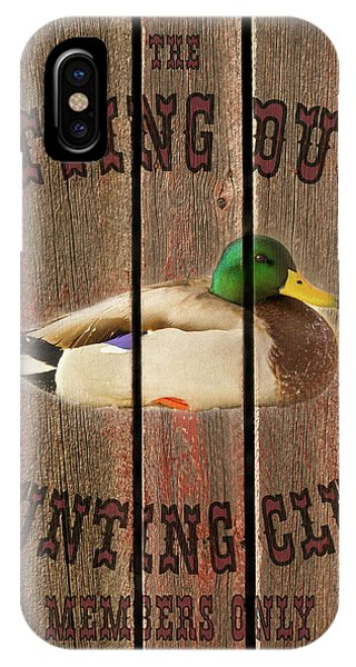 Sitting Duck Hunting Club IPhone Case