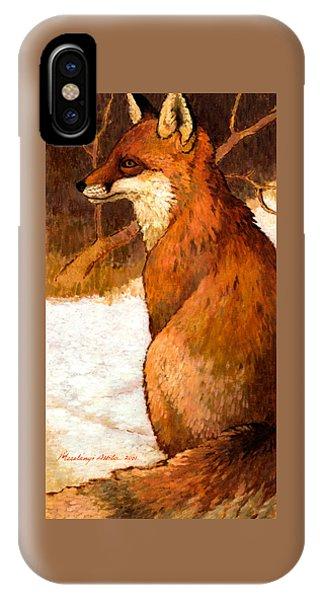 Sitting Fox IPhone Case