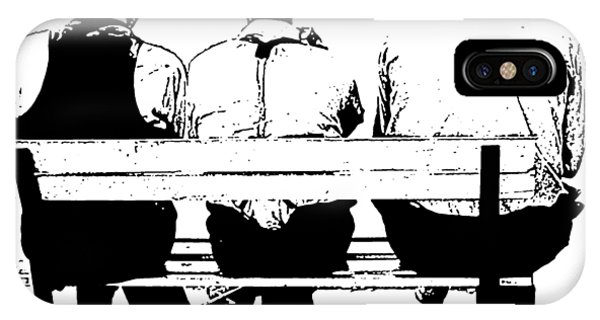 Park Bench iPhone Case - Sitting On A Park Bench by Edward Fielding