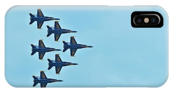Six Blue Angels In The Clear Blue Sky IPhone Case
