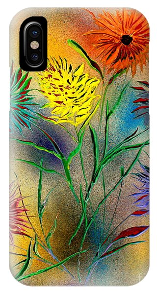 Six Flowers - E IPhone Case