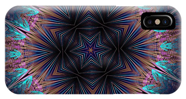 Six Petal Star Kaleidoscope IPhone Case