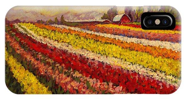 Skagit Valley Tulip Field IPhone Case