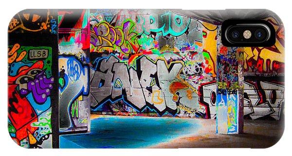 Aerosol iPhone Case - Skatepark Graffiti Southbank 3 by Mo Barton