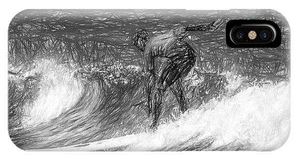 Sketch A Wave IPhone Case
