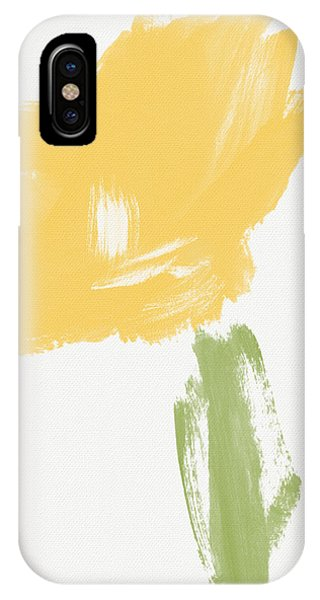 Nature Abstract iPhone Case - Sketchbook Yellow Rose- Art By Linda Woods by Linda Woods