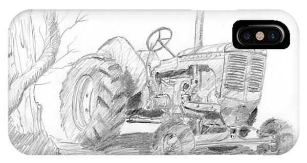 Sketchy Tractor IPhone Case